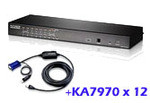 ATEN Altusen KH1516AUKit: KH1516A with 12x USB adapter cable cables(KA7970)