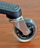 Rollerblade Style Hard Floor Office Chair Caster Soft Wheel Ball Bearings 5pc Set