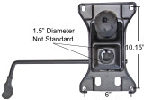 "SP-610BT  BIG & TALL Chair Replacement Tilt Swivel Mechanism 6"" X 10.15"" Mounting rated 500 lbs"