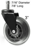 50 Rollerblade Style Wheels Office Chair Soft Casters Hard Floors 50-PU75BLK
