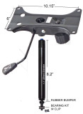 Combination Heavy Duty Tilt Swivel Rocker Seat Plate Mechanism with Gas Spring Rated 350 lbs #SPC-6108