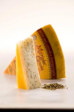Pesto Basil Gouda at Wisconsin Cheese Masters, Door County.