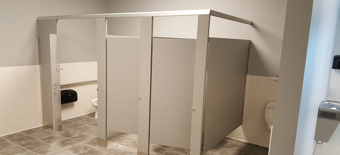 Plastic Laminate  bathroom stalls - Restroom Stalls and All
