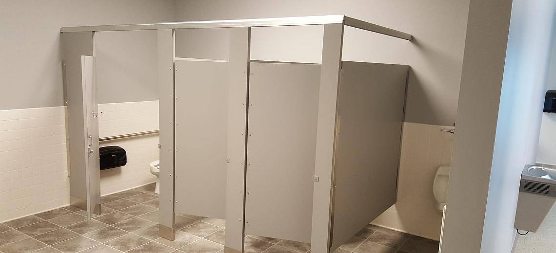 Amazing Plastic Laminate Bathroom Stalls   Restroom Stalls And All
