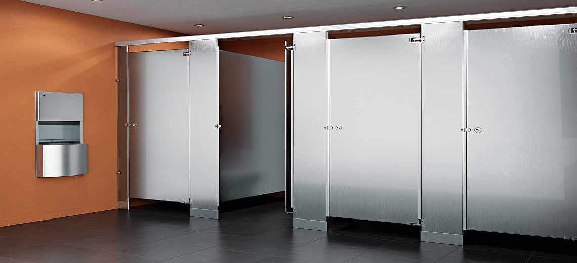 Toilet partition bathroom partition restroom partition for Stainless steel bathroom partitions