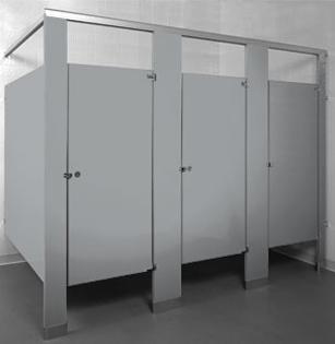 Phenolic Black Core Toilet Partitions Restroom Dividers Toilet Stall Dividers Restroom