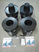 4 Bucket, Budget DWC System, 5 gallon Buckets, 6inch Net Pots