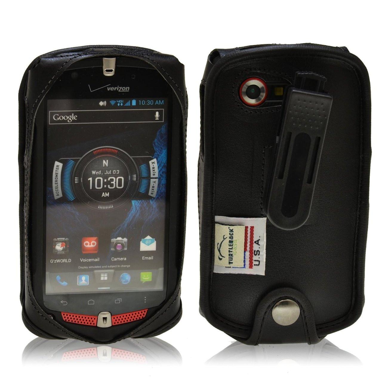LG lg exalt phone case : ... C811 Black Leather Case with Ratcheting Belt Clip - Turtleback Case