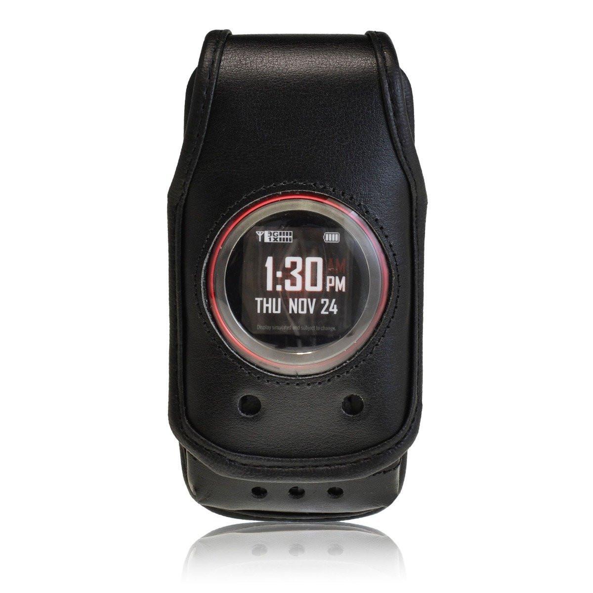 LG lg exalt phone case : ... Ravine 2 Black Leather Case with Rotating Metal Clip - Turtleback Case