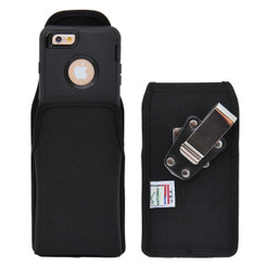 Vertical Nylon Extended Holster for Apple iPhone 6 (4.7in.) with Bulky Cases, Metal Belt Clip