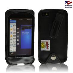 Blackberry Z10 Executive Black Leather Case with Ratcheting Belt Clip