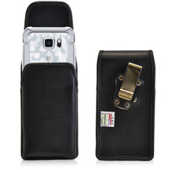 Samsung Galaxy S6 Active Vertical Leather Holster, Metal Belt Clip