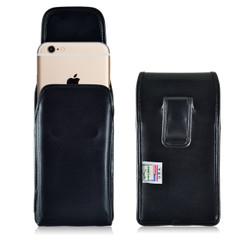 iPhone 6S Plus Leather Vertical Holster Case, Black Belt Clip