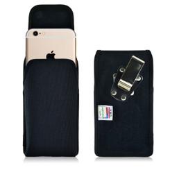 iPhone 6S Plus Nylon Vertical Holster Case, Black Belt Clip