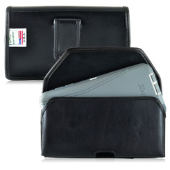 Galaxy Note 5 Leather Holster Case Black Clip Fits Bulk Cases