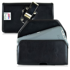 Galaxy Note 5 Leather Holster Case Metal Clip Fits Bulk Cases