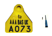 BAS13, Ovina Flag Tag and 11mm EID Microchip
