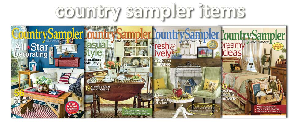 dnlwoodwooks Coutry Sampler Magazine Items