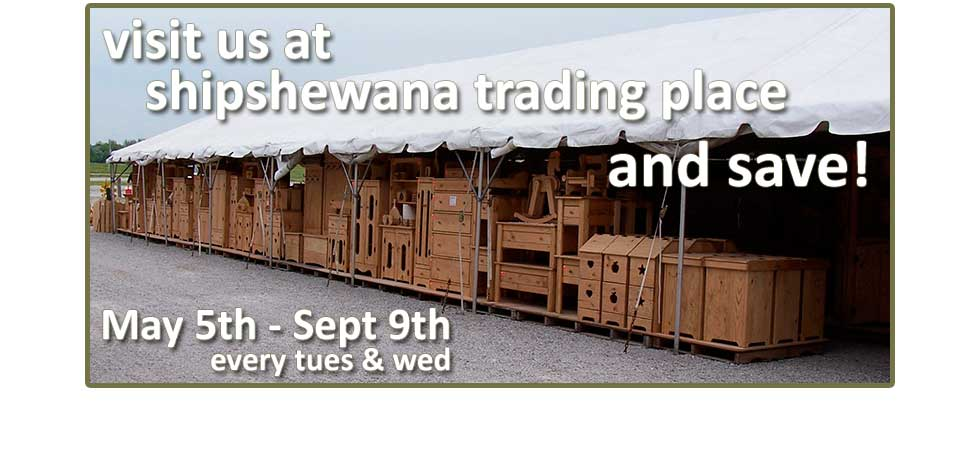 dnlwoodworks Tent Sale at Shipshewanna Trading Place Now Through Sept 9th