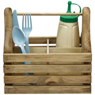 (plain front-view) wooden-silverware-and-condiment-caddy-