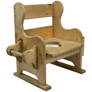 Side view of tp holder Wooden-Potty-Chair