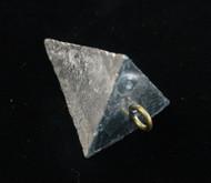 8 oz Lead Pyramid Sinker 3 sided