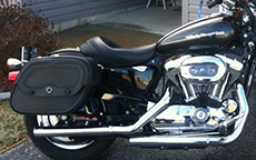Tony Dove's '06 Harley-Davidson Sportster 1200 C w/ Charger Motorcycle Saddlebags