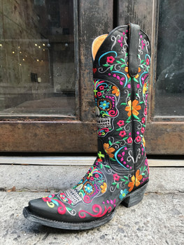 Old Gringo Multi Color Klak Sugar Skull Boots
