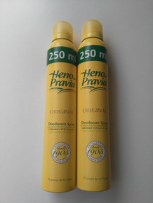 Heno de Pravia deodorant spray 250ml x 2 Spanish