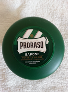 Proraso shaving soap cream 150ml green bowl with Menthol and Eucalyptus
