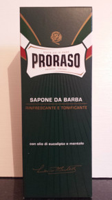 Proraso shaving cream soap Menthol and Eucalyptus Green XL 500ml tube