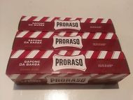 Proraso shaving soap cream 3 x 150ml tubes RED sandalwood coarse beards