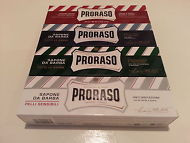 Proraso shaving soap cream 4 (Four) 150ml Tubes white, green, red, blue