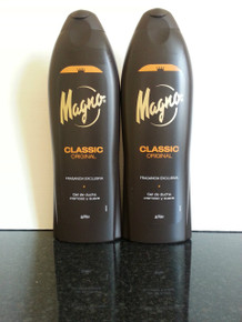 Spanish Shower/Bath Gels x 2 bottles Magno Classic 550ml