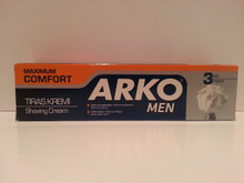 1 x 100ml Arko Maximum Comfort Shaving Cream from Turkey