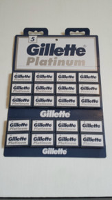 5/10/25/50/100 Gillette Platinum DE double edge razor blades