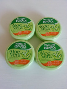 Body Cream with Aloe Vera. Instituto Espanol 50 ml TRAVEL size x 4 (FOUR) pots