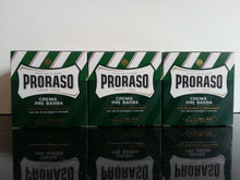 Proraso pre and post shave cream THREE jars of green 100ml