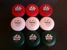 Proraso shaving soap 9 (NINE) x 150ml bowls  green,  red,  white ' Pick Your Own'