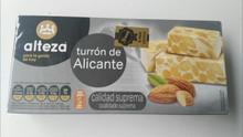 Alteza Turrón de Alicante 1 bar Spanish Almond delicacy 250g