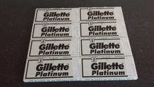 *Offer* 800 Double edge DE razor blades Gillette Platinum  XL pack