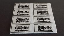 *Offer* 800 Double edge DE razor blades Gillette Platinum  XL pack
