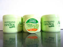 Body Cream with Aloe Vera Instituto Espanol 400ml X 3 PLUS x 1 Travel size. Made in Spain.