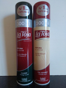 La Toja Spanish Shaving Foam  Classic and Sensitive 300ml X 2