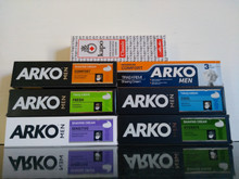 6 x 100ml Arko Shaving Creams from Turkey (one of each) PLUS x 1 Kapo Shaving Cream