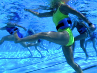 WaterGym Water Aerobics mimics cross country ski moves