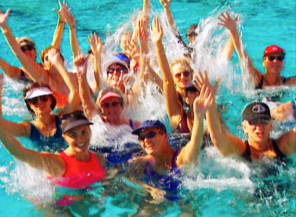 Cheering for WaterGym Water Exercises