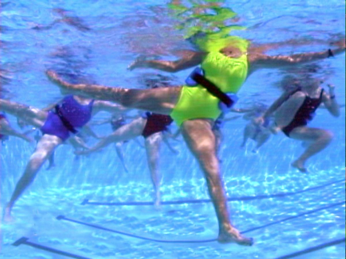 WaterGym Water Aerobics mimics Kickboxing moves