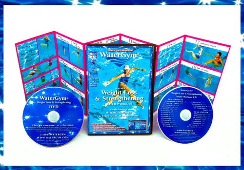 Weight Loss Water Aerobics Workout Video and Music CD WaterGym