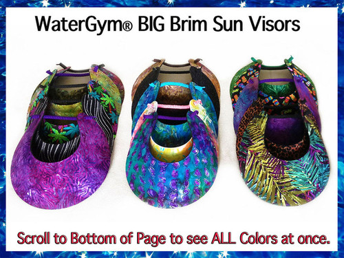 Visors Big Brim Colors WaterGym